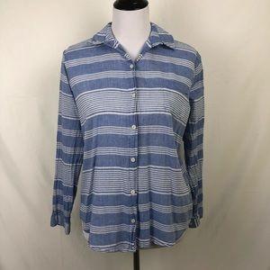 Lili's Closet Anthropologie blue button up blouse